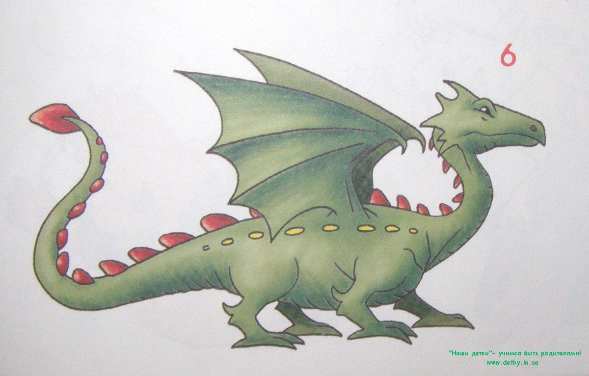 Дракона рисовать карандашом kamyon boyama