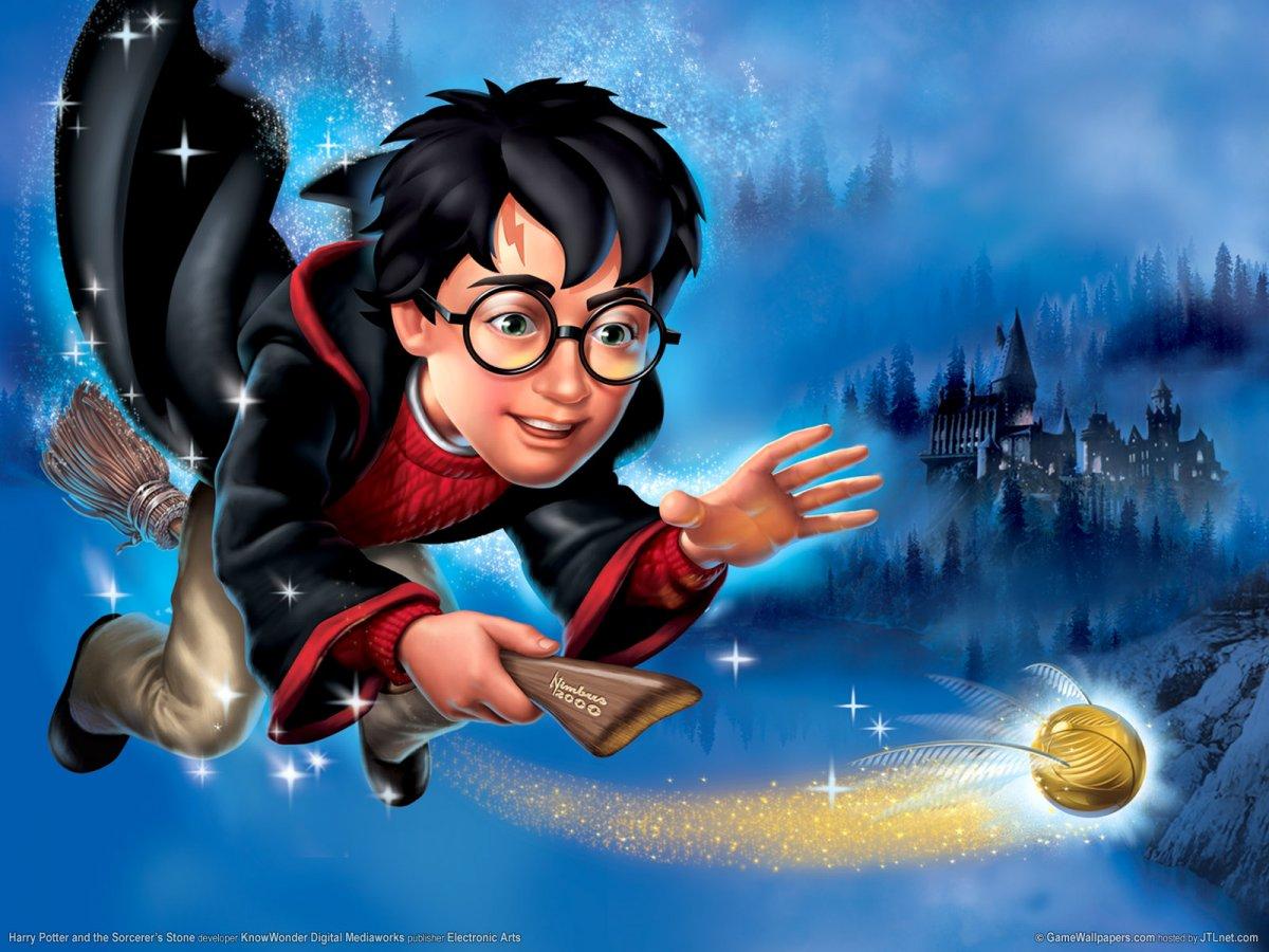 Онлайн-раскраска Гарри Поттер